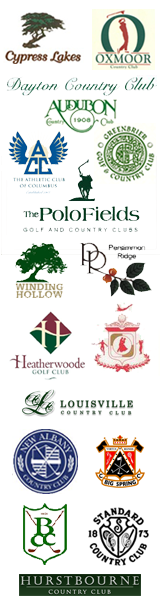 lots of country club logos